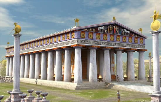Temple of zeus for Architecture grec
